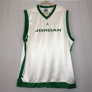 Jordan White & Green Basketball Jersey Men's XL